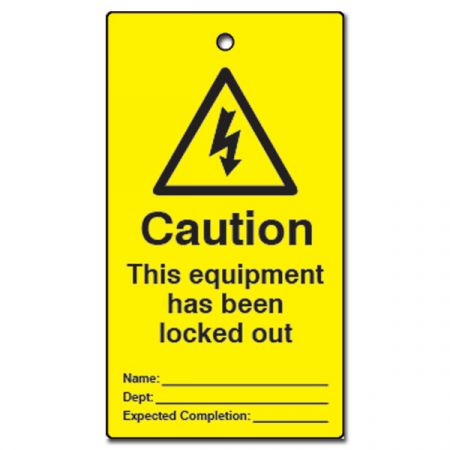 ASEC Lockout Tagout Tags `This Equipment Has Been Locked Out` Pack of 10