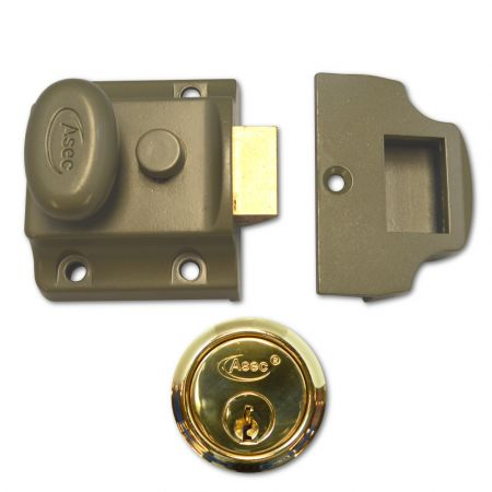 ASEC 40mm Traditional Non-Deadlocking Nightlatch