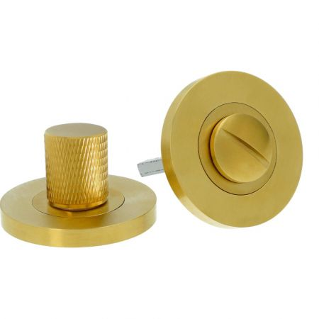 Alexander and Wilks Knurled Thumbturn and Release Satin Brass PVD