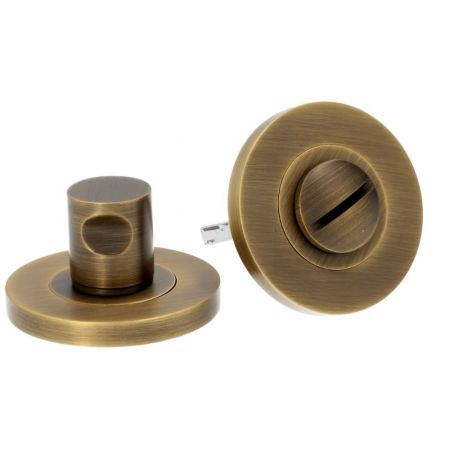 Alexander and Wilks Plain Thumbturn and Release Antique Brass