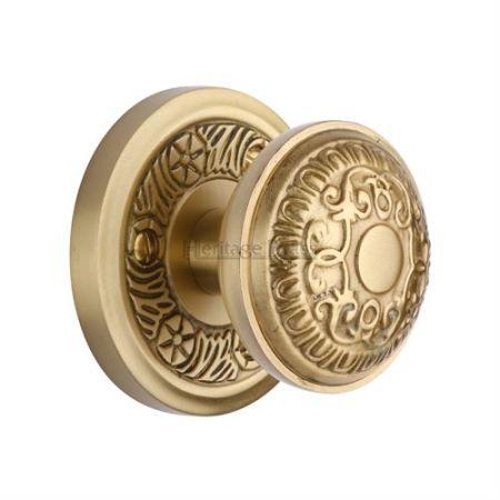 Heritage Brass Aydon Mortice Knob AYD1324 Satin Brass