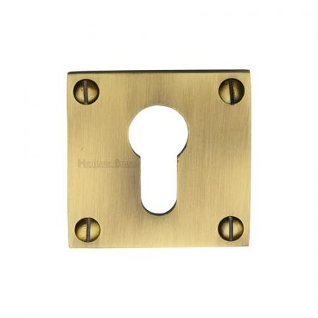 Heritage Brass Euro Profile Cylinder Escutcheon Square - BAU1558