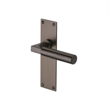 Heritage Brass Bauhaus Handle on Backplate Matt Bronze