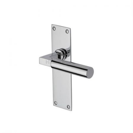 Heritage Brass Bauhaus Handle on Backplate Polished Chrome