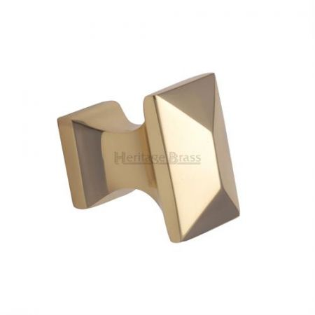 Heritage Brass Pyramid Cabinet Knob C2232 Polished Brass