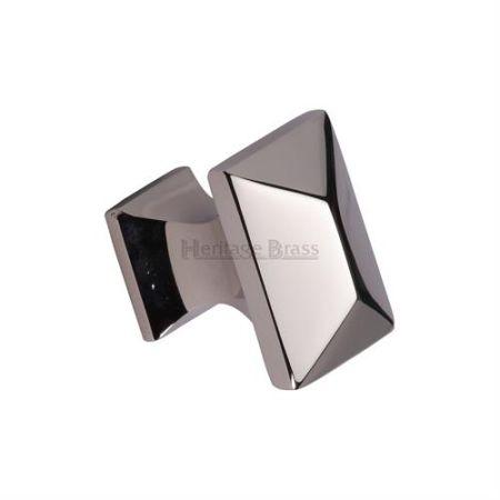 Heritage Brass Pyramid Cabinet Knob C2232 Polished Nickel