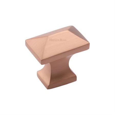 Heritage Brass Pyramid Cabinet Knob C2232 Satin Rose Gold