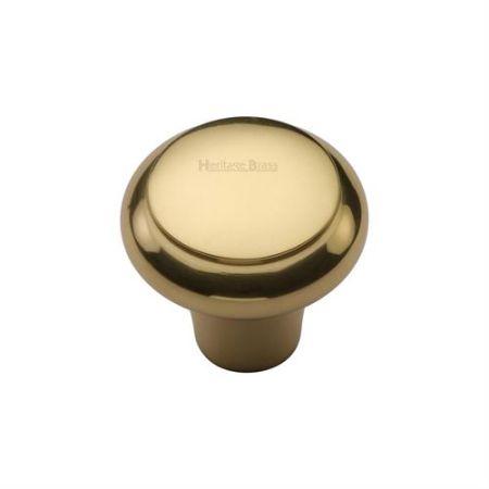 Heritage Brass Edge Design Cabinet Knob C3990 Polished Brass
