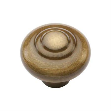 Heritage Brass Round Bead Cabinet Knob C3985 Antique Brass