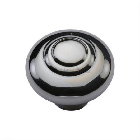 Heritage Brass Round Bead Cabinet Knob C3985 Polished Chrome
