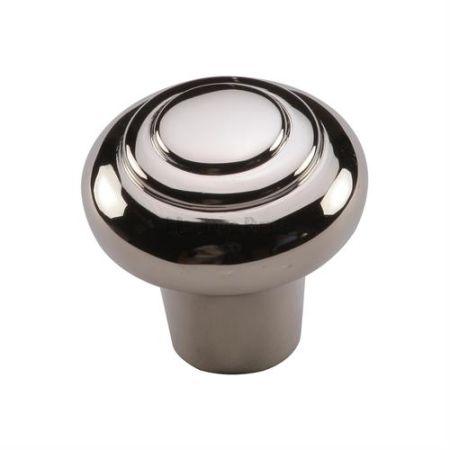 Heritage Brass Round Bead Cabinet Knob C3985 Polished Nickel