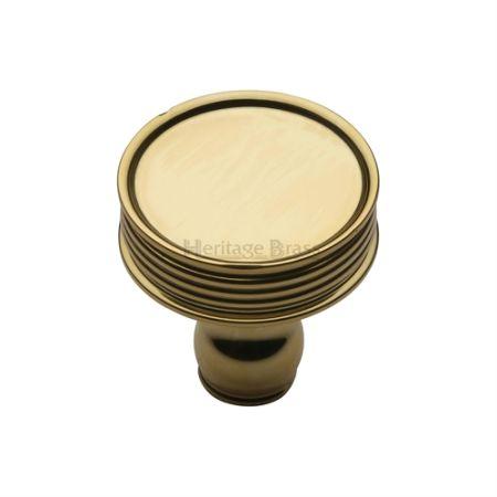 Heritage Brass Venetian Cabinet Knob C4547 Polished Brass