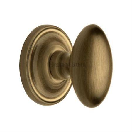 Heritage Brass Chelsea Mortice Knob CHE7373 Antique Brass
