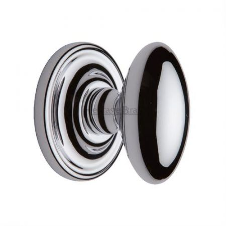 Heritage Brass Chelsea Mortice Knob CHE7373 Polished Chrome