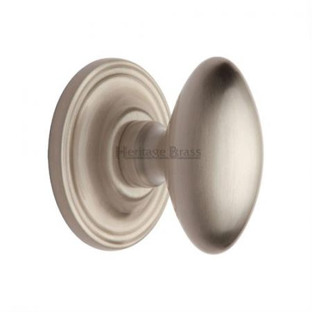 Heritage Brass Chelsea Mortice Knob CHE7373 Satin Nickel