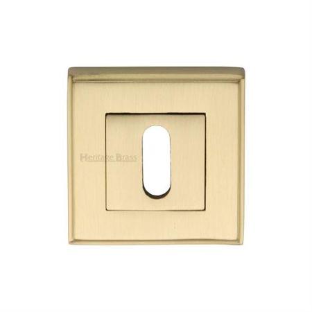 Heritage Brass Square Standard Keyhole Escutcheon DEC7000