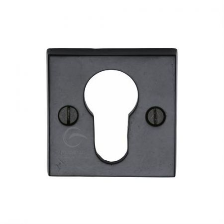M Marcus Smooth Black Square Euro Profile Escutcheon FB158