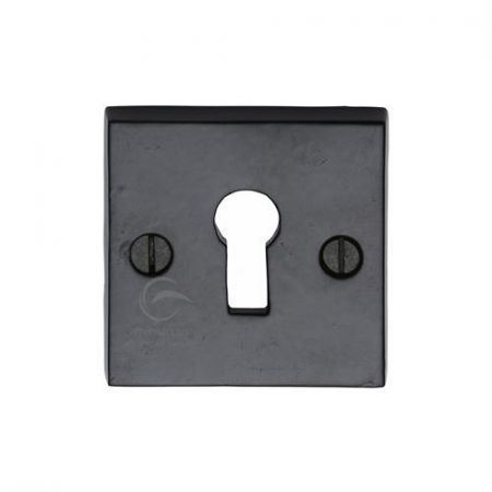 M Marcus Smooth Black Square Standard Key Escutcheon FB159