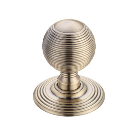 Fulton and Bray FB306 Ringed Mortice Knob Florentine Bronze