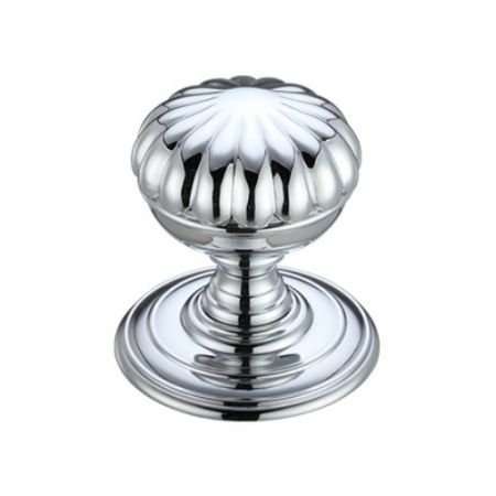 Fulton and Bray FB307 Flower Mortice Knob Polished Chrome