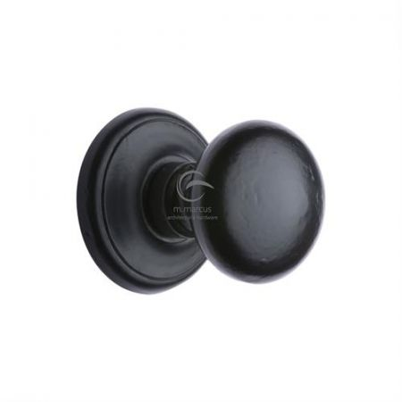 M Marcus Smooth Black Round Centre Door Knob FB901