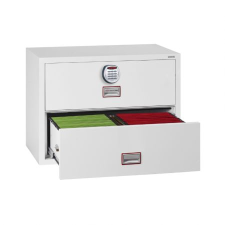 Phoenix World Class Lateral Fire File FS2412 2 Drawer Filing Cabinet