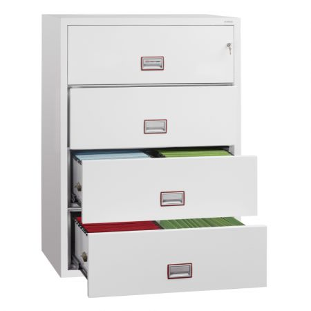 Phoenix World Class Lateral Fire File FS2414 4 Drawer Filing Cabinet