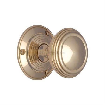 Heritage Brass Goodrich Mortice Knob GOO986 Polished Brass
