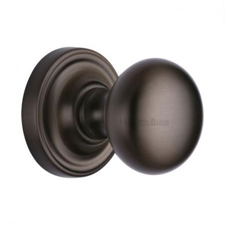 Heritage Brass Hampstead Mortice Knob HAM8361 Matt Bronze
