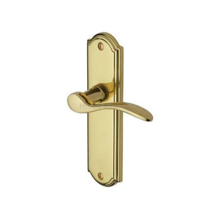 Heritage Brass Howard Handle on Backplate Polished Brass