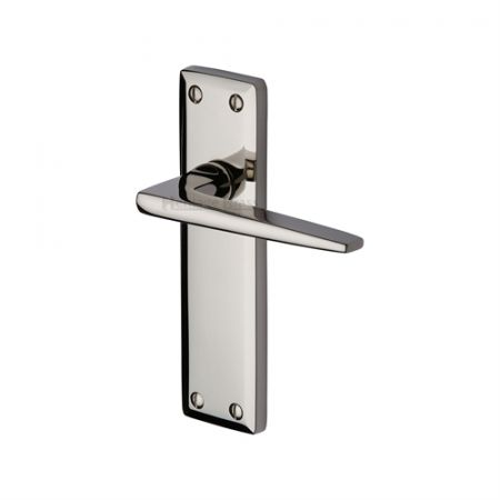 Heritage Brass Kendal Handle on Backplate Polished Nickel