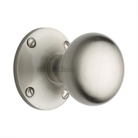 Heritage Brass Kensington Mortice Knob KEN980 Satin Nickel