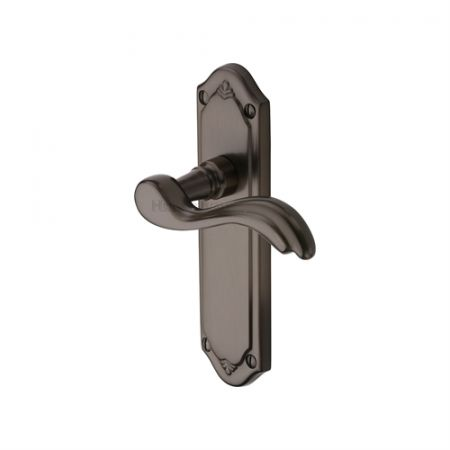 Heritage Brass Lisboa Handle on Backplate Matt Bronze