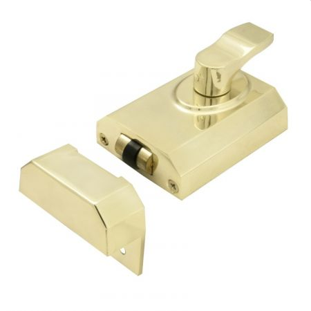 Eurospec 60mm Contract Rim Cylinder Rollerbolt Electro Brass