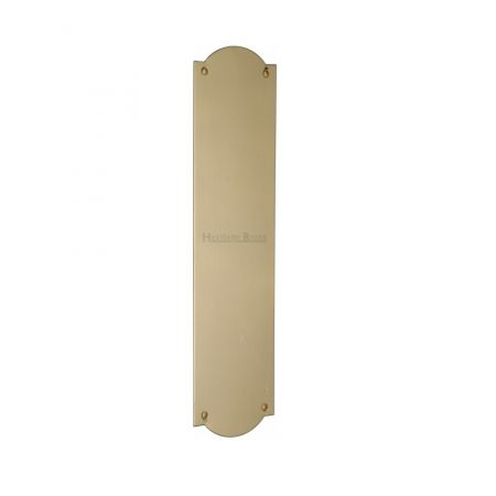 Heritage Brass Shaped Finger Plate S640