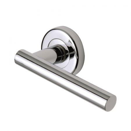 Sorrento Shuttle Handle on Rose SC-3052 Polished Chrome