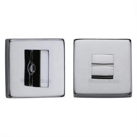 Heritage Brass Square Bathroom Thumbturn and Release SQ4035 Polished Chrome