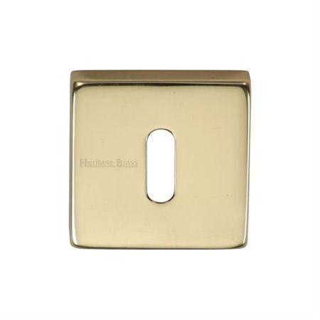Heritage Brass Square Standard Keyhole Escutcheon SQ5002