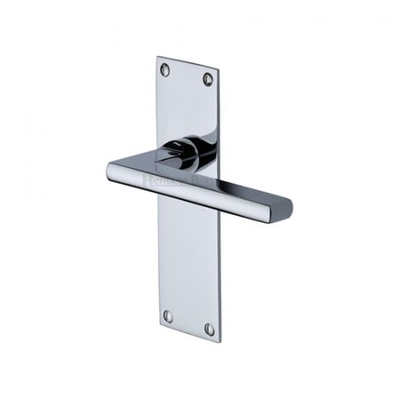 Heritage Brass Trident Handle on Backplate Polished Chrome