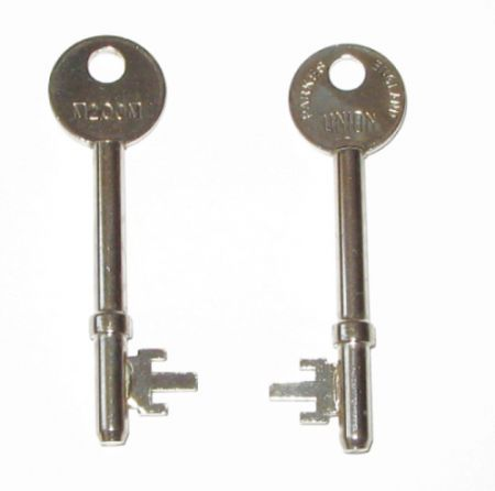 Key for Union 3 Lever Mortice Lock (MM Series)