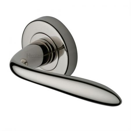 Heritage Brass V1750 Sutton Handle on Rose Polished Nickel