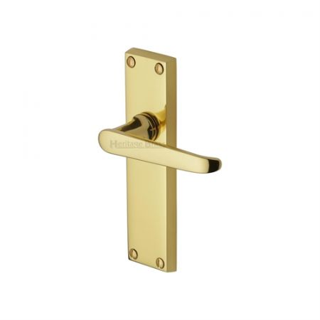 Heritage Brass Victoria Handle on Backplate Polished Brass