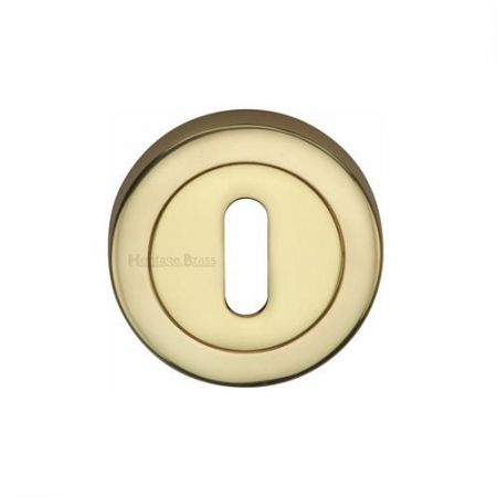 Heritage Brass 53mm Standard Keyhole Escutcheon V4000 Polished Brass