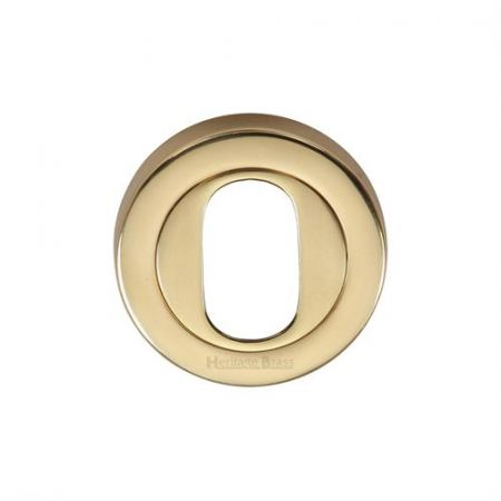 Heritage Brass 53mm Oval Profile Escutcheon V4010 Polished Brass