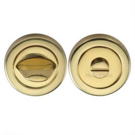 Heritage Brass 53mm Bathroom Thumbturn and Release V4043 Polished Brass