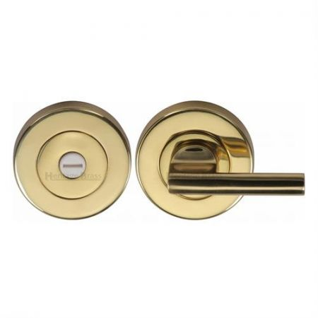 Heritage Brass 53mm Bathroom Thumbturn and Release V4044 Polished Brass