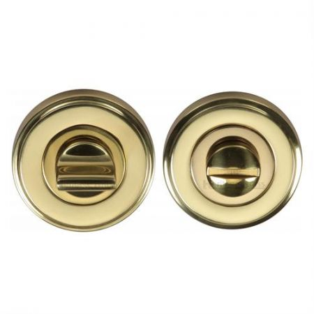 Heritage Brass Round Bathroom Turn & Release - V4045 Polished Brass
