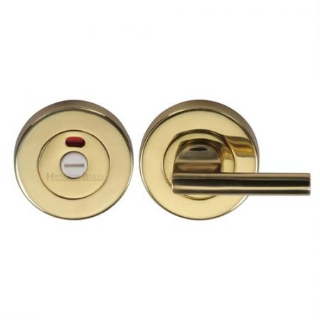 Heritage Brass 53mm Bathroom Thumbturn and Release with Indicator V4048 Polished Brass