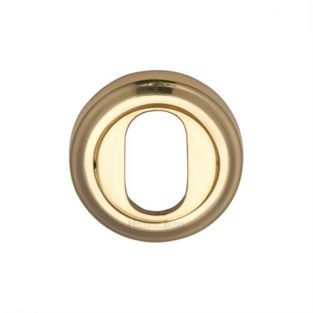 Heritage Brass Oval Profile Escutcheon Round - V5010