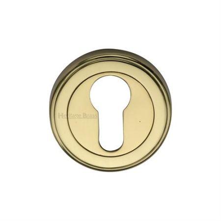 Heritage Brass Euro Profile Escutcheon Round - V5020 Polished Brass